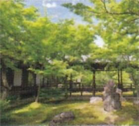 画像:6月 建仁寺(京都) 庭の詩情 2020年カレンダー