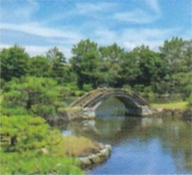 画像:8月 養翠園(和歌山) 庭の詩情 2020年カレンダー