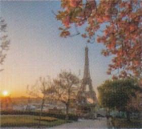 画像:4月 パリ(フランス) ファンタジーワールド(A) 2020年カレンダー