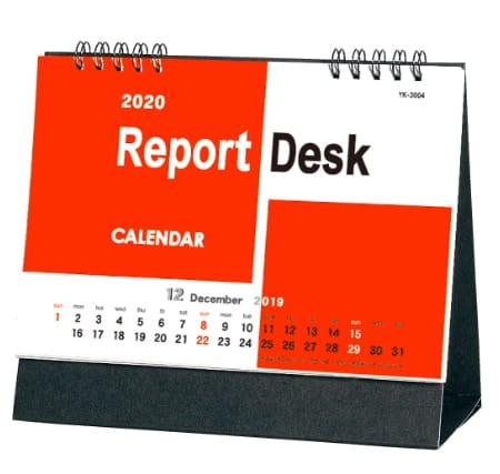 表紙 レポートデスク 2020年カレンダーの画像