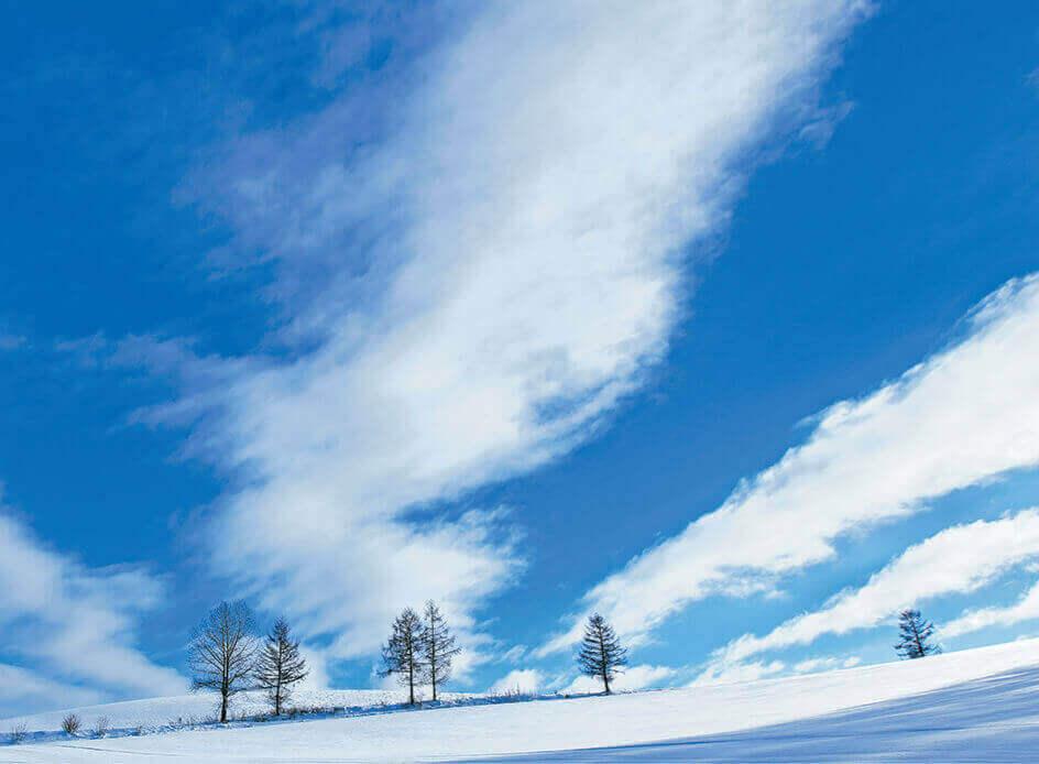 2月 放射状に広がる雲 SORA -空- 2022年カレンダーの画像
