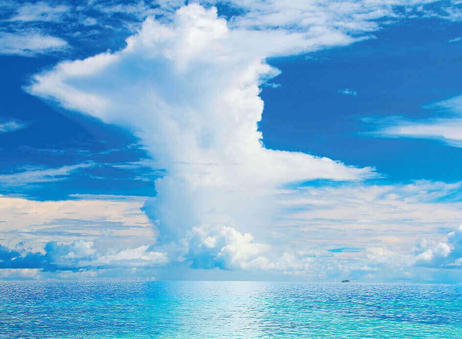8月 海上の入道雲 SORA -空- 2022年カレンダーの画像