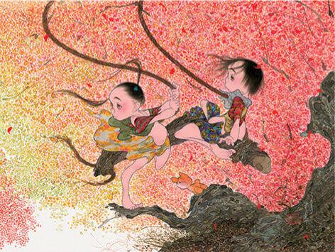 9-10月 ゆれる風色 風の詩・中島潔作品集 2022年カレンダーの画像
