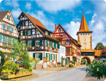 1-2月 ゲンゲンバッハ ドイツ 世界のかわいい街と家 2022年カレンダーの画像