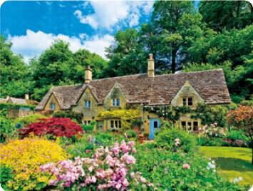 3-4月 バイブリー イギリス 世界のかわいい街と家 2022年カレンダーの画像