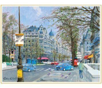 11-12月 パリ街景 フランス 欧羅巴を描く 小田切訓 2022年カレンダーの画像