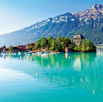 7-8月 ブリエンツ湖 スイス ワイドヨーロッパ(フィルムカレンダー) 2022年カレンダーの画像