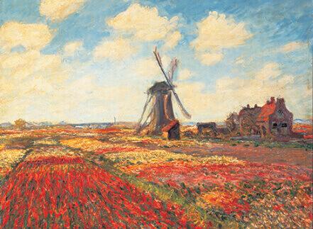 3-4月 オランダのチューリップ畑 モネ 2022年カレンダーの画像