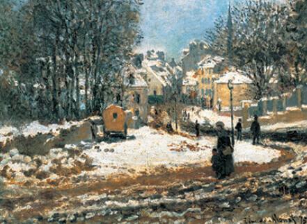 11-12月 アルジャントゥイユの大通りの入口、冬(1875) モネ 2022年カレンダーの画像
